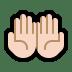 🤲🏻 palms up together: light skin tone Emoji on Windows Platform