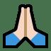 🙏🏻 folded hands: light skin tone Emoji on Windows Platform
