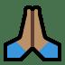 🙏🏽 folded hands: medium skin tone Emoji on Windows Platform