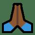 🙏🏾 folded hands: medium-dark skin tone Emoji on Windows Platform