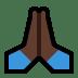 🙏🏿 folded hands: dark skin tone Emoji on Windows Platform