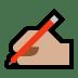 ✍🏼 writing hand: medium-light skin tone Emoji on Windows Platform
