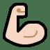 💪🏻 flexed biceps: light skin tone Emoji on Windows Platform