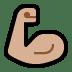 💪🏼 flexed biceps: medium-light skin tone Emoji on Windows Platform