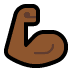 💪🏾 flexed biceps: medium-dark skin tone Emoji on Windows Platform