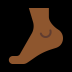 🦶🏾 foot: medium-dark skin tone Emoji on Windows Platform
