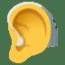 🦻 ear with hearing aid Emoji on Windows Platform