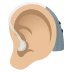 🦻🏼 ear with hearing aid: medium-light skin tone Emoji on Windows Platform