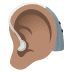 🦻🏽 ear with hearing aid: medium skin tone Emoji on Windows Platform