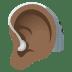 🦻🏾 ear with hearing aid: medium-dark skin tone Emoji on Windows Platform