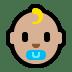 👶🏼 baby: medium-light skin tone Emoji on Windows Platform
