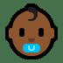👶🏾 Medium Dark Skin Tone Baby Emoji on Windows Platform